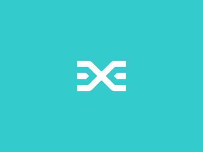 Logomark e x minimal simple logomark logo