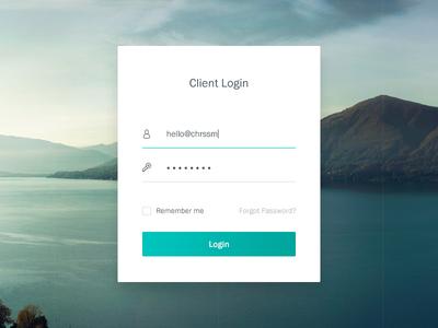 Simple Login web design minimal clean white green simple ui login