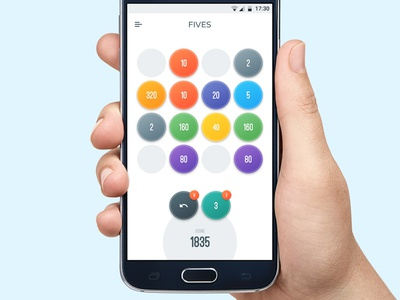 Fives white ui app rainbow bright samsung android game fives