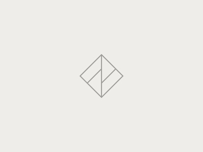 FF light line square simple logomark logo monogram f