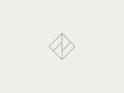 FF light line square simple logomark logo monogram f