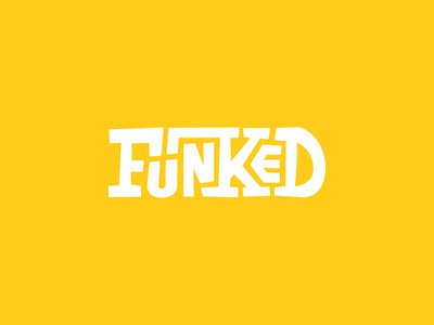 Funked rough yellow type