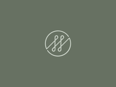 SS green s ss simple logo monogram