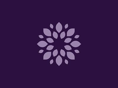 Floral purple floral logomark logo