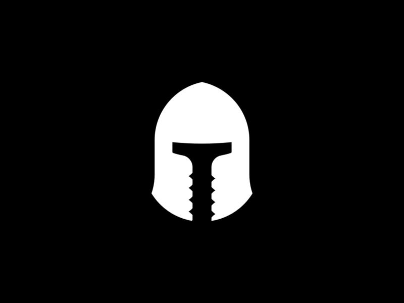 Battle Construction branding idenity screw helmet construction battle logomark logo