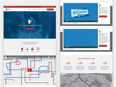 Escape Room Website design web design