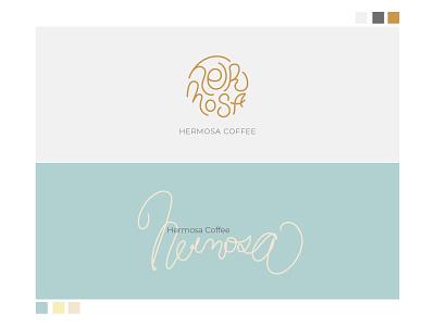 Hermosa Coffee minimal branding typography design logo