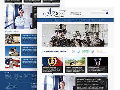 Apogee Solutions Redesign ux design web design