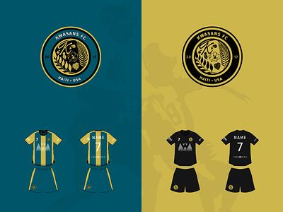 Kwasans F.C. branding logo illustration design