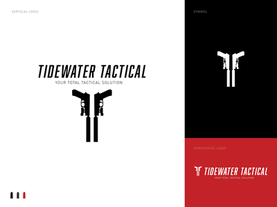 Tidewater Tactical branding logo design