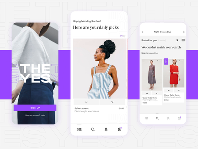 The Yes - Yes Interaction interaction design ecommerce fashion interaction ui motion design animation