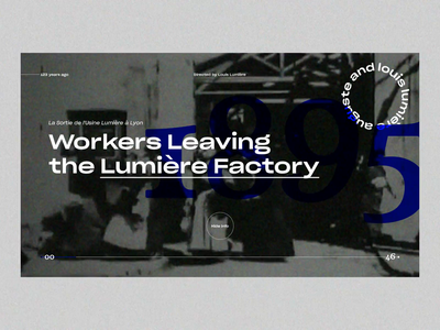 Workers Leaving the Lumière Factory motiondesign typography interaction design interaction aftereffects web ui animation motion design