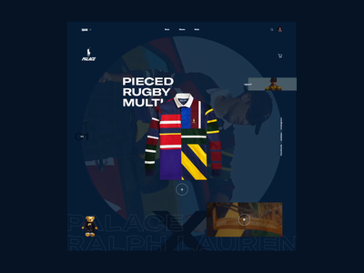 Palace x Ralph Lauren graphicdesign typo webdesign after effects aftereffects motiondesign interaction design interface web typography interaction ui motion design animation