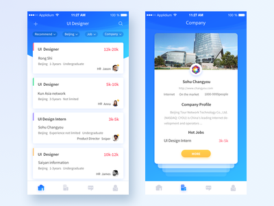 BOSS Recruitment App  Redesign interface