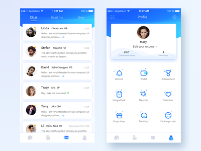 BOSS Recruitment App Redesign 2 interface