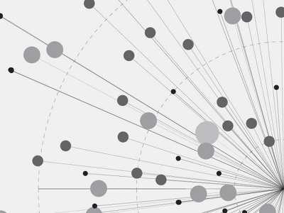 Radial chart - detail  radial chart graphic design information design data visualization monochrome circle bubble graph diagram dataviz data infographic