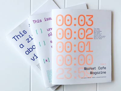 Market Cafe Magazine - A dataviz magazine paper numbers print zine pantone typography cover data visualization dataviz magazine