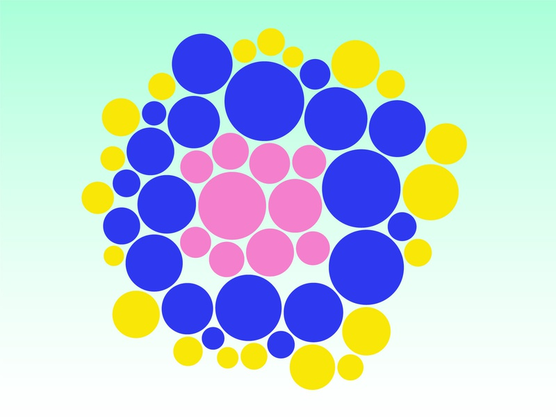🔵Circles, dots and bubbles 🔵 pattern pink infographics geometric dot bubble circle dots report illustration gradient diagram data information design graph chart data visualization infographic dataviz