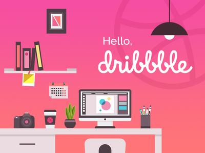 Dribbble Debut workspace