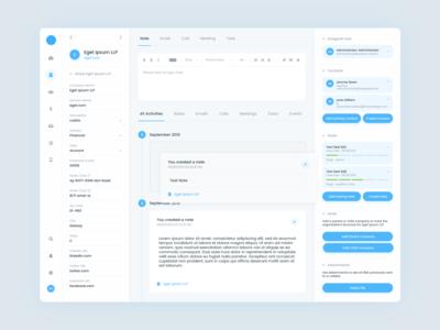 Web Dashboard Feed UI/UX Design