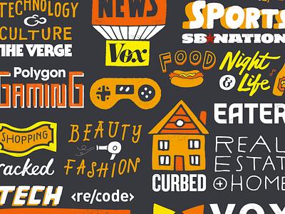 Vox Media Banner freelance branding illustration