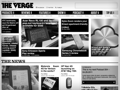 The Verge - High Fidelity Wireframe - Homepage the verge homepage wireframe solution design vox media