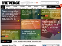 The Verge - Homepage vox media the verge homepage wireframe and code and theory