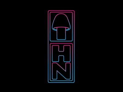 Hongo Neuronal (Neural Fungus) branding logo graphic design