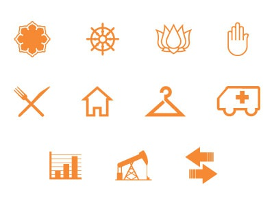 More Icons icon web navigation lotus buddhist dharma graph home dining safety