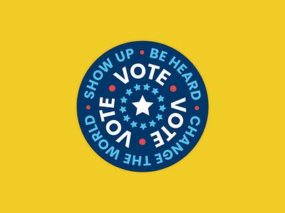 VOTE! adobe illustrator vote vote2020 voting graphicdesign sticker design vector stickers minimal flat design badges badge design badge