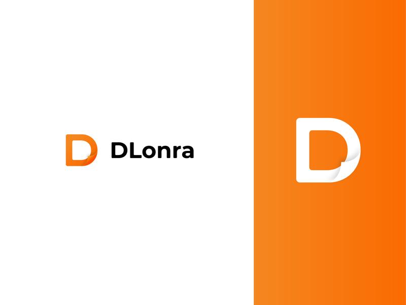 D L O N R A publish book paper letter mark icon symbol brand and identity brand mark logo