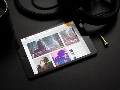 Ipad With Cup And Headphone