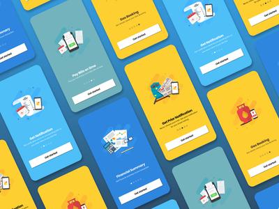 Mobile Payment App Splash Screens