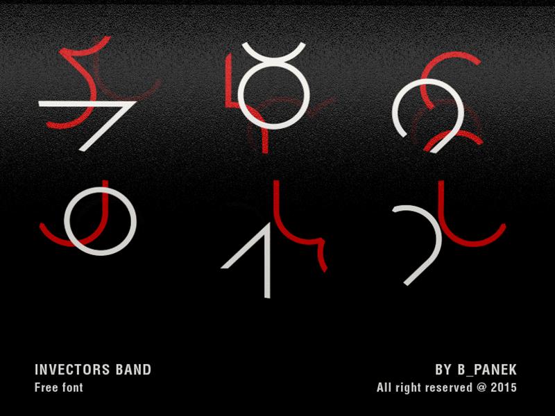 Invectors Band / Font fontsphere letters experimental font typeface font type