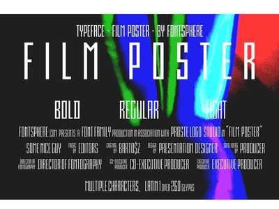 Film Poster Font | 3 weights