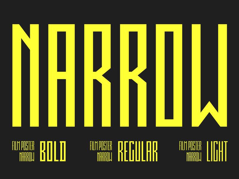 Film Poster Narrow Font | 3 weights pixel condensed font cinema movie poster film poster narrow film poster minimal digital futuristic font geometric fontsphere.com typeface