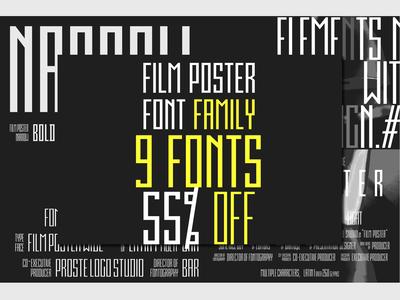 Film Poster Font Family | 9 Fonts
