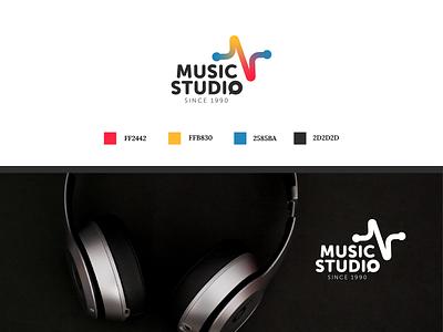 Logo music studio logo graphic design design branding