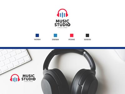 Music studio logo logo graphic design design branding