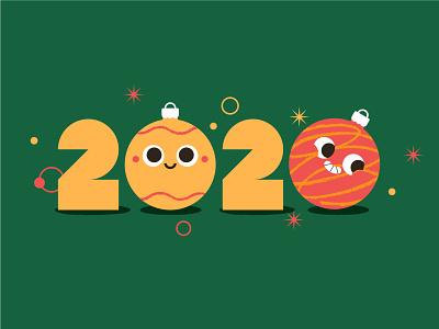 Happy 2020! 2020 merry xmas christmas balls holidays merrychristmas xmas illustration character ildanflash