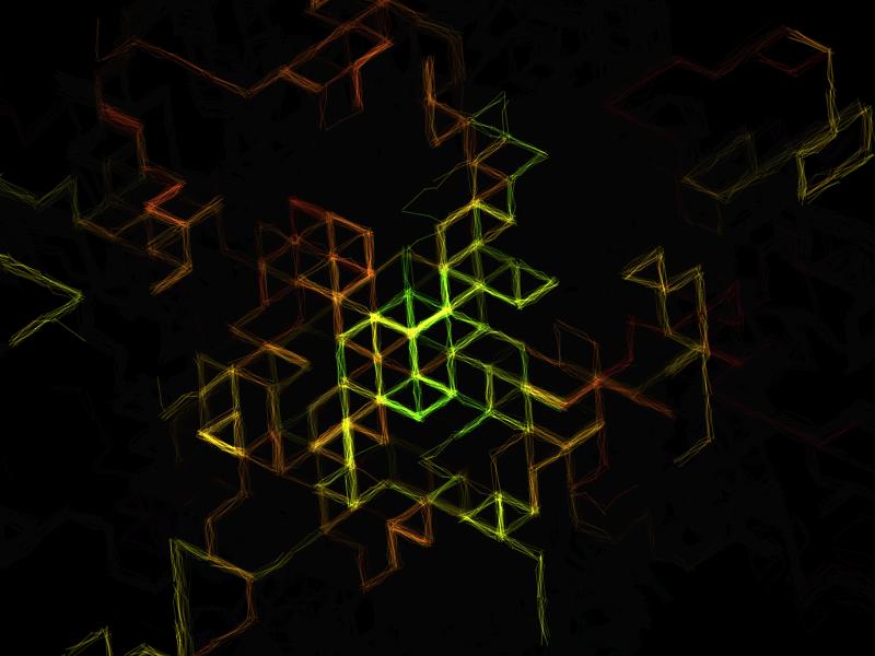 Rainbow Hexagonal Grid by Matei Copot on Dribbble