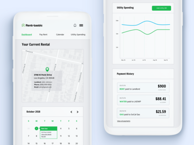 Rent-tastic Mobile Dashboard