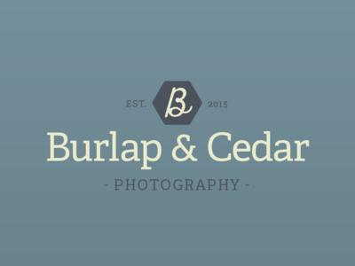 Burlap & Cedar Photography typography icon illustrator branding logo idenity design