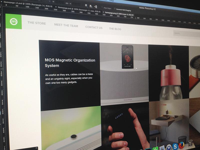 Homepage V2 clean minimal flat website tiles landing ui web homepage ux design iphone