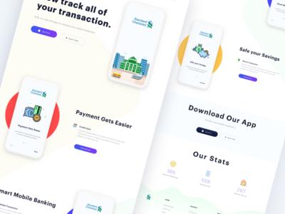 Simple Landing Page Concept V3 fresh finance bank simple website modern clean ios mobile landing