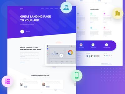 Landing Page wesite customer service inspirational clean design ux ui inspiration homepage landing