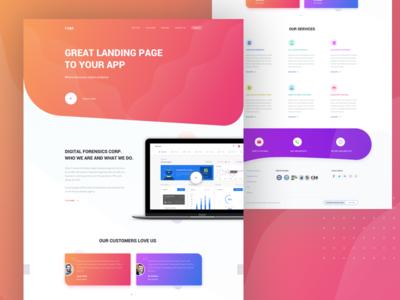 Landing Page V2 wesite landing homepage inspiration ui ux clean design inspirational customer service
