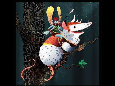 Opossum Fairy Warrior!