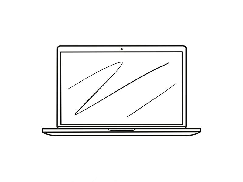 Macbook Front Iconic Illustration