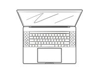 MacBook Pro Top Iconic Illustration